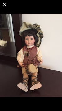 Porcelain doll in brown vest and lace up gladiator sandals Winnabow, 28479