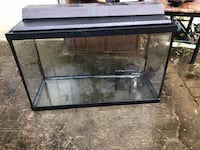 black framed clear glass fish tank Reston, 20190