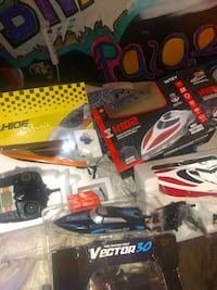 3 new in box remote control racing boats