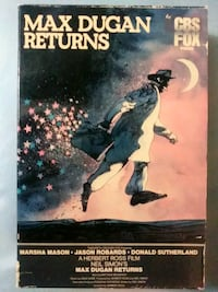 Max Dugan Returns vhs in vintage slide box