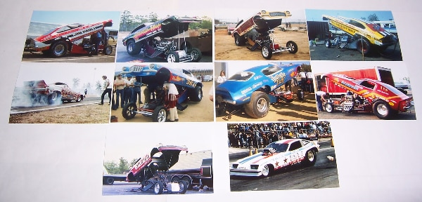 Lot #2 (10) 1970's Vintage CHEVROLET Body FUNNY CAR 4x6 Color Drag Racing  Photos