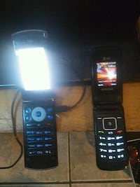 Flip phones x2 lg is one and samsung other Hamilton, L8N 1E2