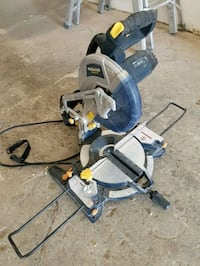 gray and black miter saw