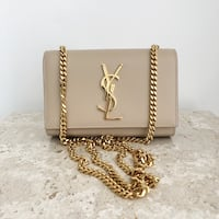 Brand new small kate Ysl monogram nude shoulder bag