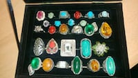 assorted color of gemstone ring lot Montreal, H8T