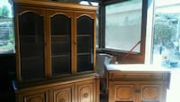 Vintage China hutch with matching Side bar table.  Norco, 92860