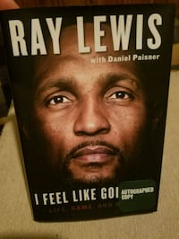 Ray Lewis signed book Westminster, 21158