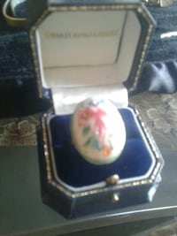 silver-colored ring with white gemstone and box Colorado Springs, 80917
