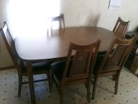 Dinette set for sale . has 5 high back chairs . Fountain Inn, 29644