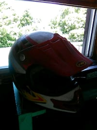 black and red full-face helmet Apalachin, 13732