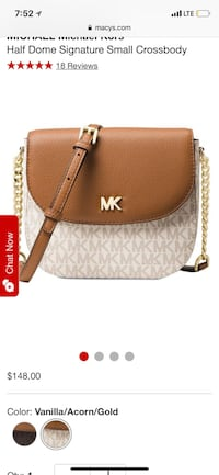 Brown and white michael kors leather crossbody bag Soledad, 93960