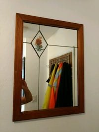 """24""""-18"""" stained glass mirror Victoria, V9A 6A6"""