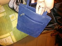 blue leather tote bag and wallet Cocoa, 32927