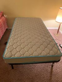Twin size mattress with bed frame