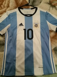 Blue and white Adidas jersey shirt Prunedale, 93907
