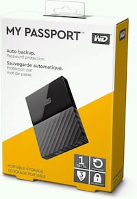 WD MY PASSPORT 1TB Herndon, 20170