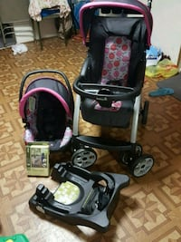 Stroller and carseat with base and rain cover neve 191 mi