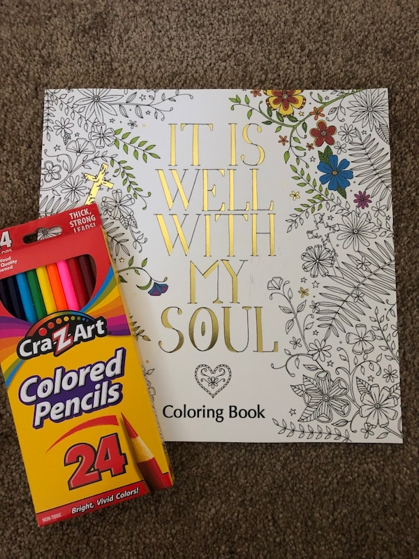 Used It Is Well With My Soul Coloring Book Color Pencils For Sale