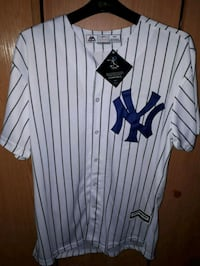 Jersey blanco y azul de New York Yankees Madrid
