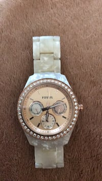 round silver Michael Kors chronograph watch with silver link bracelet Olmsted Falls, 44138
