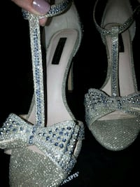 pair of silver-colored open-toe heels Poway, 92064