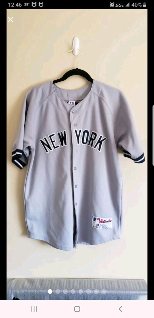 new product b694f d8bf9 New York Yankees Away Jersey Youth XL