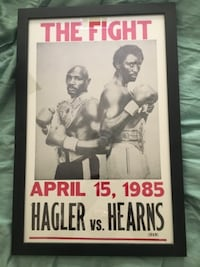"Hagler vs Hearns ""The Fight""' Framed Collectible Poster ALEXANDRIA"