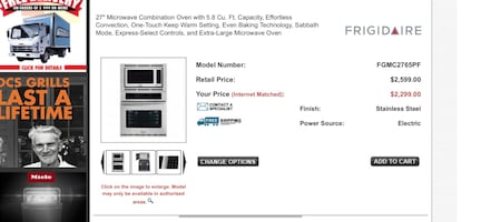 """Frigidaire gallery  27"""" Microwave Combination Oven"""