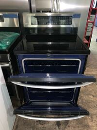 LG glass top electric range double oven like new  Baltimore, 21223