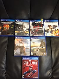 six assorted PS4 game cases 557 mi