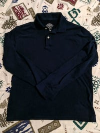 Premium Cotton Navy Longsleeve Polo Men's Small Toronto, M1C