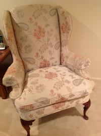 white and pink floral padded armchair Springfield, 22153