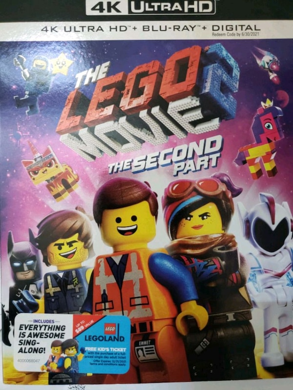 Lego Movie 2 4k (digital code NOT included)