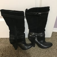 Leather and Suede Boots. Size 6 Edmonton, T6L
