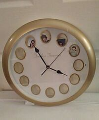 beige analog wall clock with picture panels Waynesboro, 17268