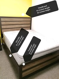 Queen Bed Frame, Comes with Box Spring and Mattres Toronto, M3J 3N8