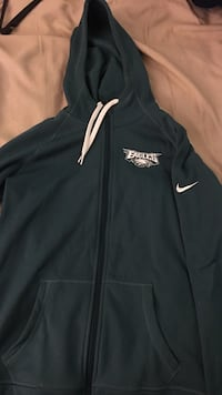 Women's nike philadelphia eagles therma- fit full zip hoodie