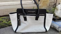 black and white leather tote bag Hamilton, L8N 2J8