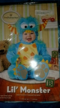 BRAND NEW! Lil'Monster costume. Size Infant up to 6/9 months.  $20 obo Clarksville, 37042