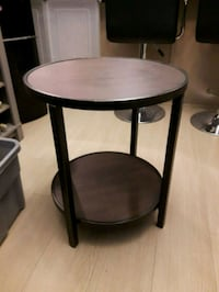 round brown wooden side table Calgary, T2E 3S7