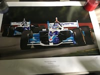 blue and white F1 race car picture