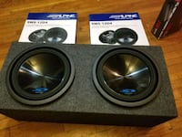 ALPINE 12INCH SUBWOOFERS 3000WATTS IN A SEALED BOX Bronx, 10466