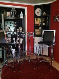 Glass and chrome pub table two chairs Hagerstown, 21740