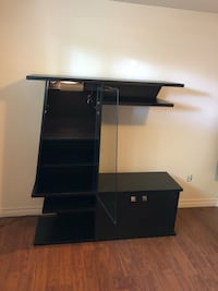 black wooden TV stand with mount Laval, H7K 1P4