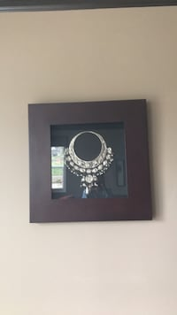 Antique 31x31 wooden frame with antique look silver necklace  Chatsworth, 91311