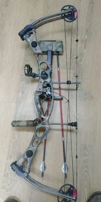 Camo compound bow, Polk, 16342