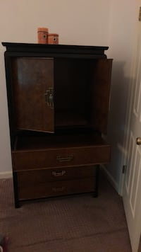 brown wooden cabinet with hutch Laurel, 20708