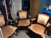 brown wooden frame padded armchairs East Providence, 02914