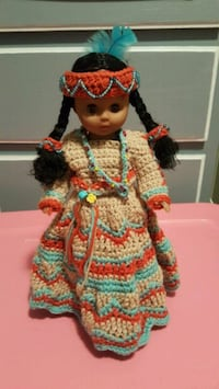 Indian doll with hand crochet dress and hand beadi Piney Flats, 37686