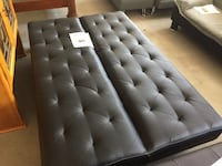 tufted black leather bed headboard Toms River, 08755